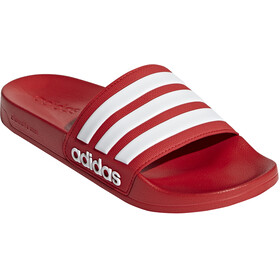 adidas Adilette Shower Slides Heren, rood/wit